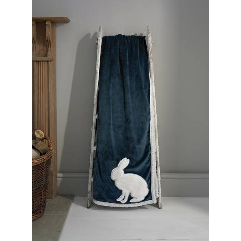 Deyongs Rabbit Country Animals Throw 140x180cm