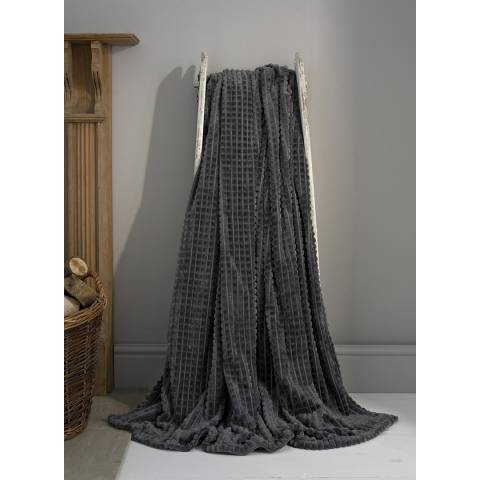 Deyongs Charcoal Saxilby Throw 140x180cm