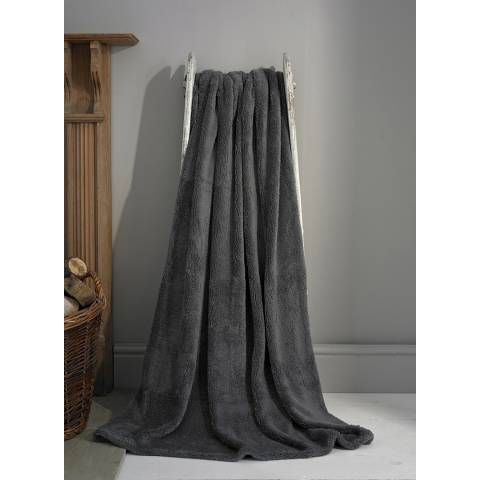 Deyongs Charcoal Roosevelt Throw 200x240cm