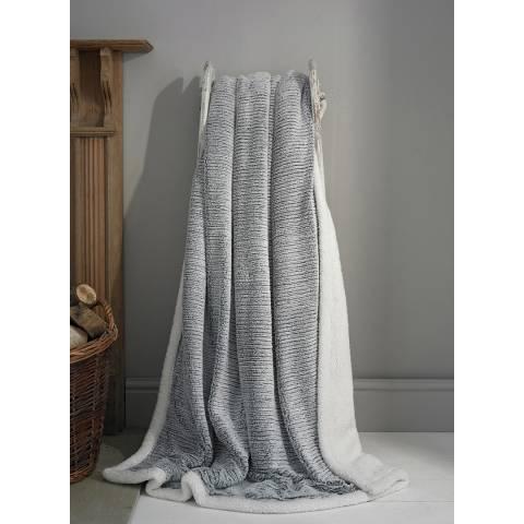 Deyongs Charcoal Arbroath Throw 130x180cm