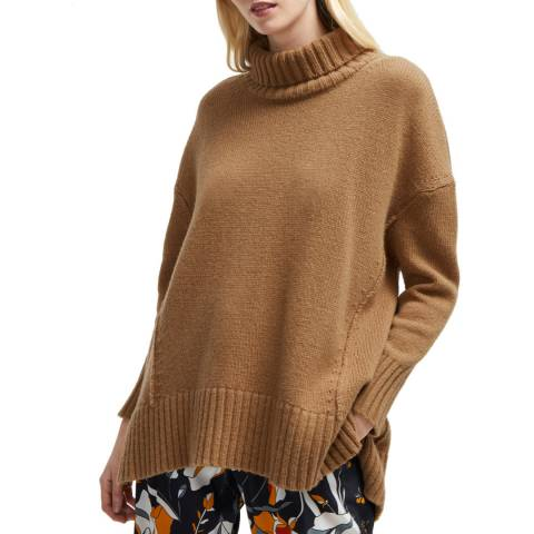 French Connection Camel Supersoft Wool Blend Jumper