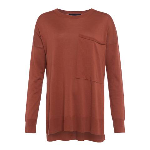 French Connection Brown Spring Light Knit Jumper