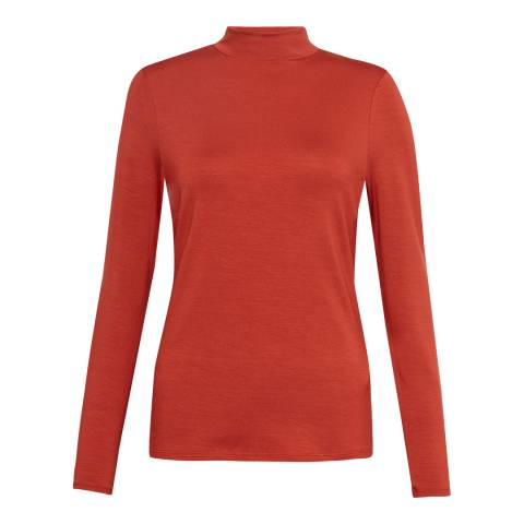 French Connection Red Fira Slinky Jersey Top