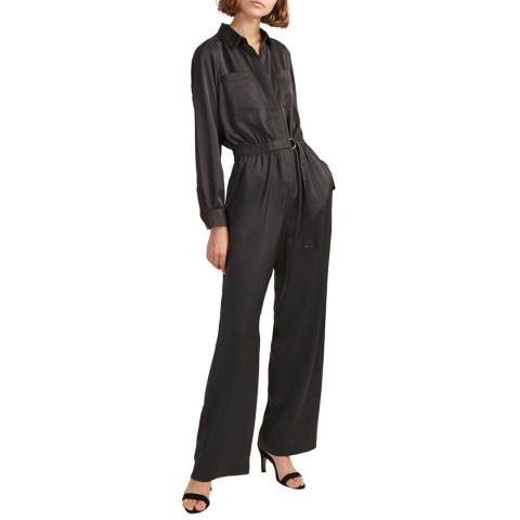 French Connection Dark Slate Enid Crepe Jumpsuit