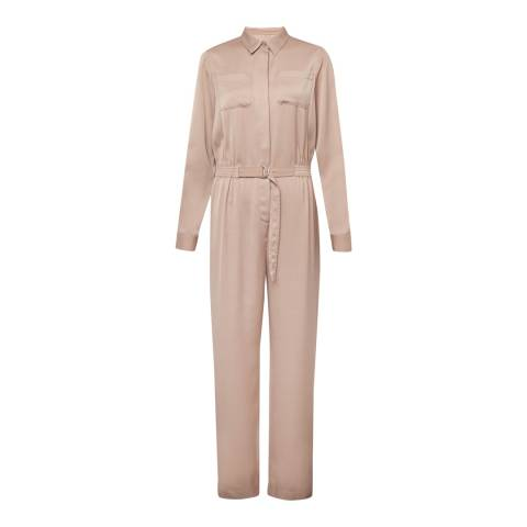 French Connection Blush Enid Crepe Jumpsuit