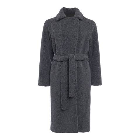 French Connection Grey Arabella Faux Shearling Coat