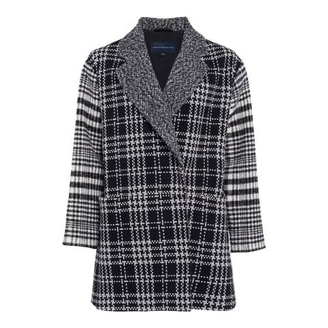 French Connection Multi Belina Check Wool Blend Coat