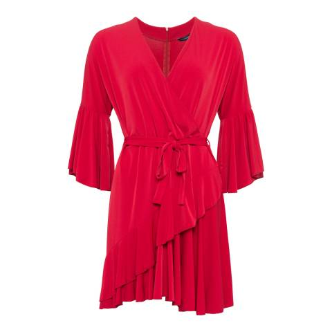 French Connection Red Ellette Jersey Wrap Dress