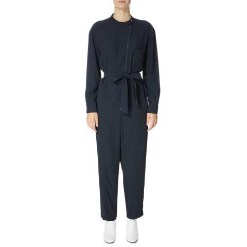 Karen Millen Petrol Zipped Front Jumpsuit