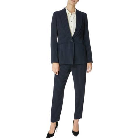 Karen Millen Navy Pinstripe Cutt About Trousers