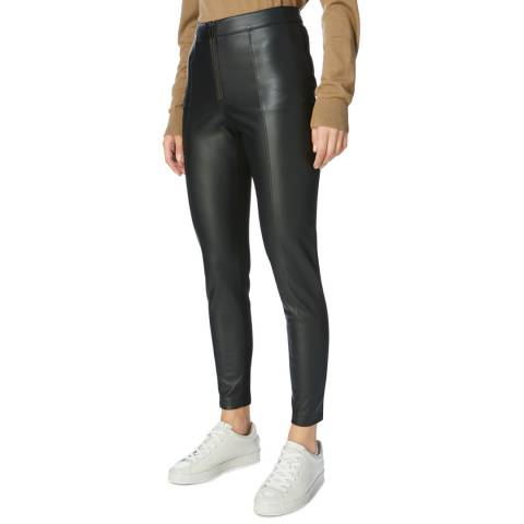 Karen Millen  Black Faux Leather Leggings