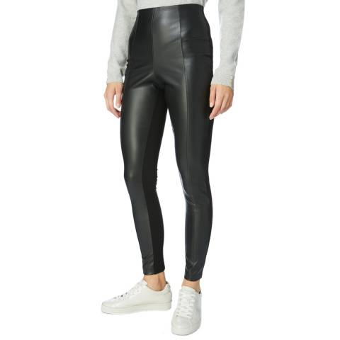 Karen Millen  Black Faux Leather Leggings
