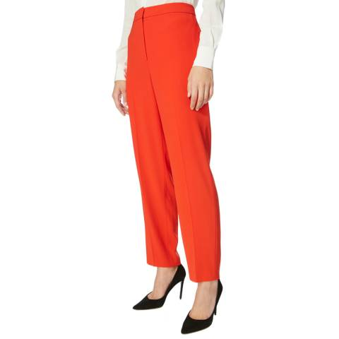 Karen Millen Red Sharp Suit Trousers
