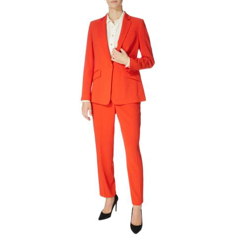 Karen Millen Red Sharp Suit Trousers