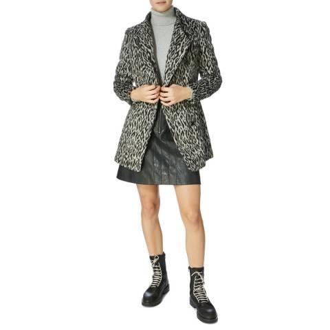 Karen Millen Leopard Short Pony Coat