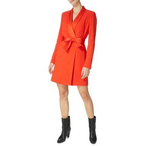 Karen Millen Red Tuxedo Wrap Dress