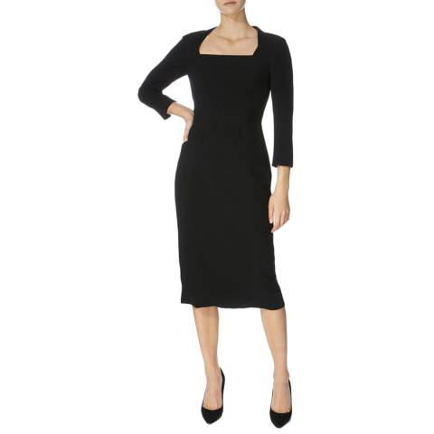 Karen Millen Black Stitch Tailored Dress