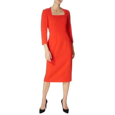 Karen Millen Red Stitch Tailored Dress