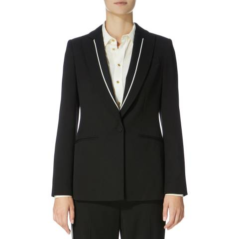 Karen Millen Black Piping Detail Jacket