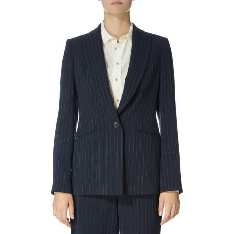 Karen Millen Navy Pinstripe Cutt About Jacket