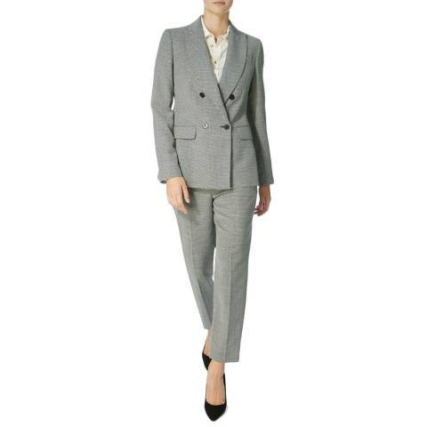 Karen Millen Grey Graphic Stepped Blazer