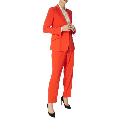 Karen Millen Red Sharp Suit Jacket