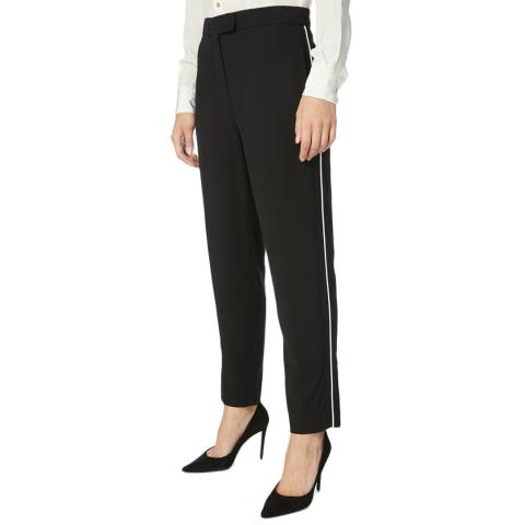 Karen Millen Black Piping Detail Trousers
