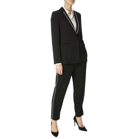 Karen Millen Black Piping Detail Trousers