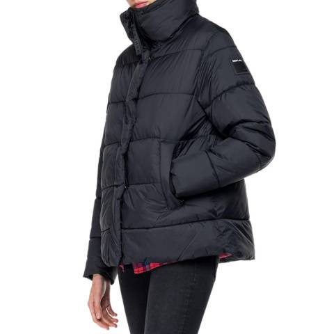 Replay Black Padded Puffa Jacket