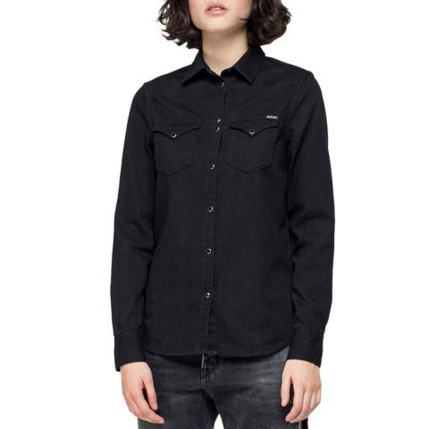 Replay Black Denim Shirt