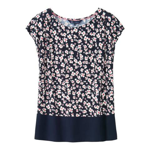 Crew Clothing Navy Pink Elly Top