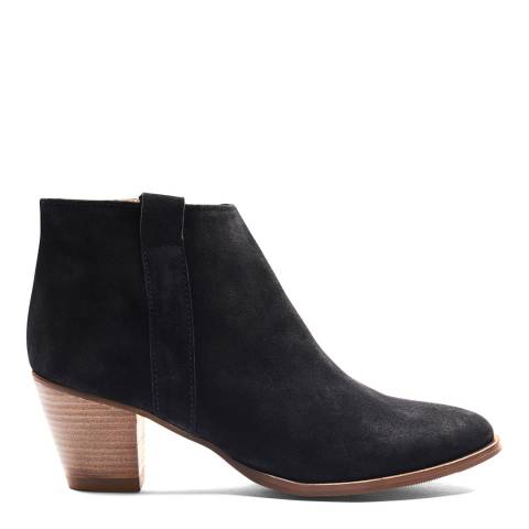 Crew Clothing Black Suede Isabelle Boot
