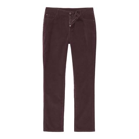 Crew Clothing Damson Cord Slim Trouser