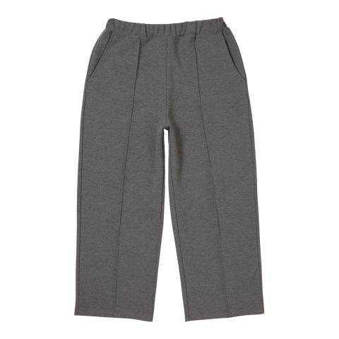 Crew Clothing Check Grey Marl Jersey Trouser