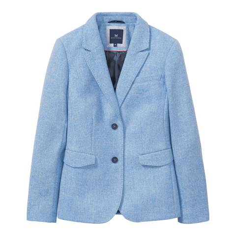 Crew Clothing Blue Grasmere Wool Blazer