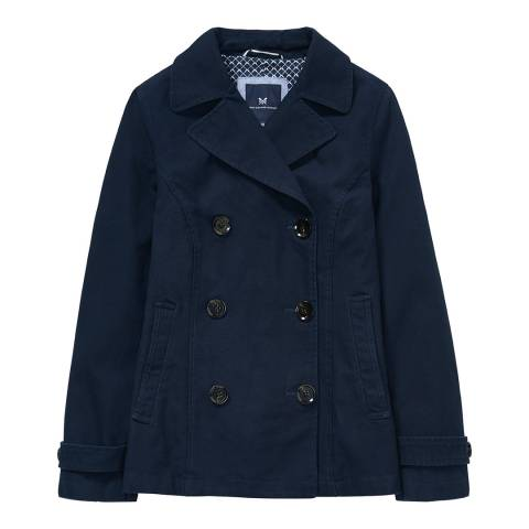 Crew Clothing Dark Navy Reefer Mac