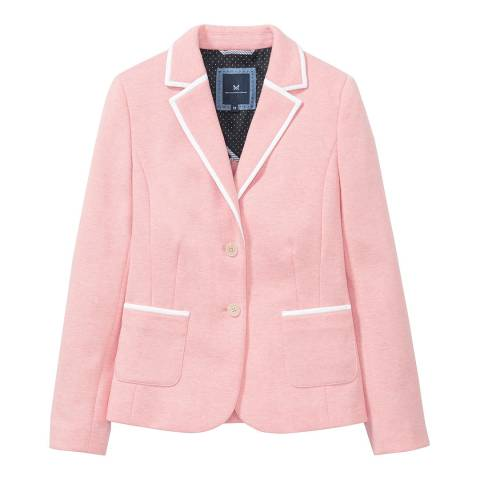 Crew Clothing Pink Jersey Piped Blazer