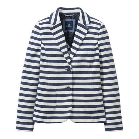 Crew Clothing Navy/White Paignton Jersey Blazer