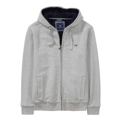 Crew Clothing Mid Grey Marl Ellingham Zip Hoody