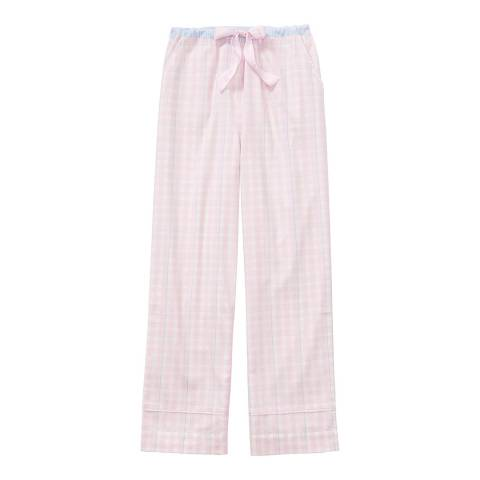 Crew Clothing Pink/White Flannel Lounge Pants