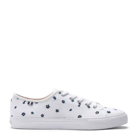 Crew Clothing White Floral Clematis Trainers