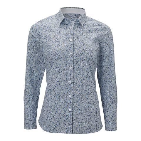 Crew Clothing Blue ditsy Lulworth Popin Shirt