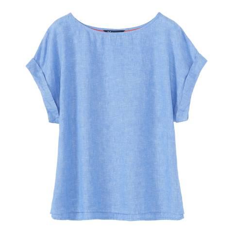 Crew Clothing Chambray Cobo Linen T-shirt