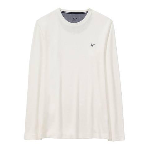 Crew Clothing White Belmont Long Sleeve T-shirt