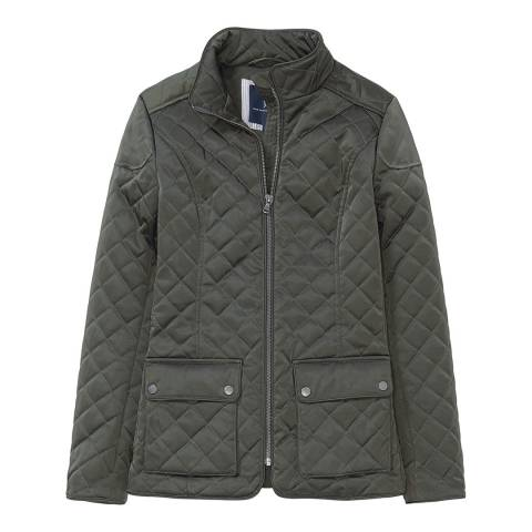 Crew Clothing Dark Khaki Forres Quilted Jacket