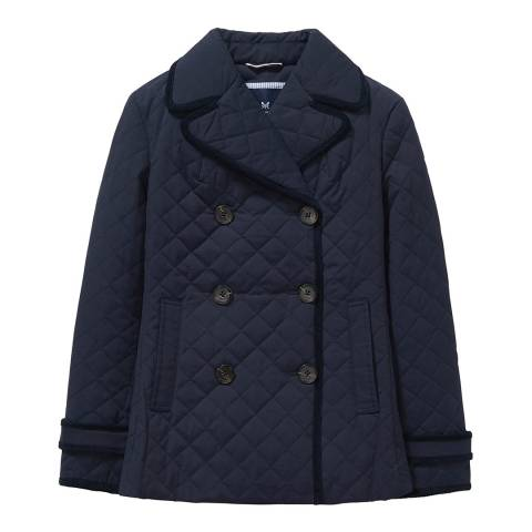 Crew Clothing Dark Navy Quilted Reefer Jacket