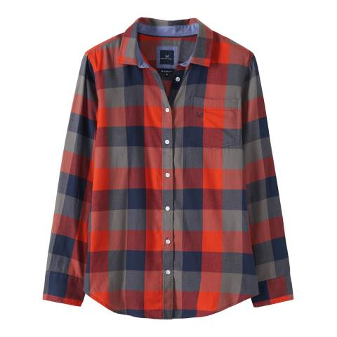 Crew Clothing Navy/Red Weekend Flannel Shirt