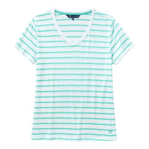 Crew Clothing White V Neck T-shirt