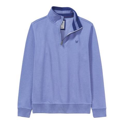 Crew Clothing Denim Blue Solid Sweatshirt