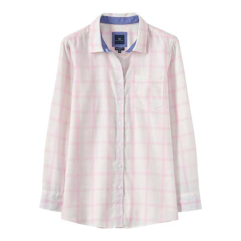 Crew Clothing White/Pink Weekend Flannel Shirt